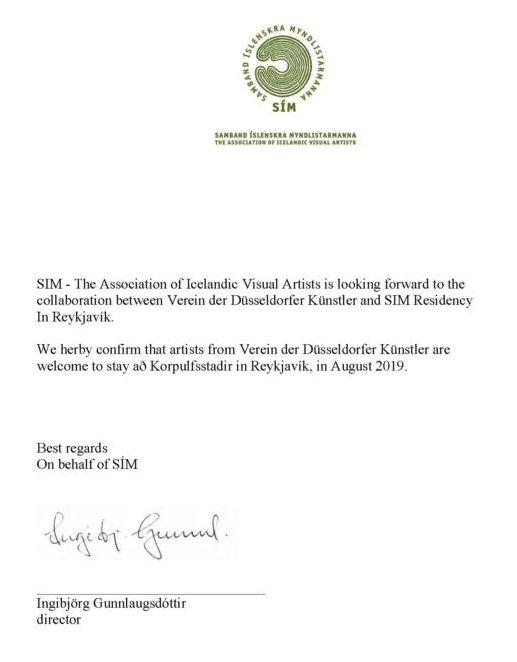 Isländisch Frohe Weihnachten.Island Letter Of Confirmation Verein Der Düsseldorfer Künstler