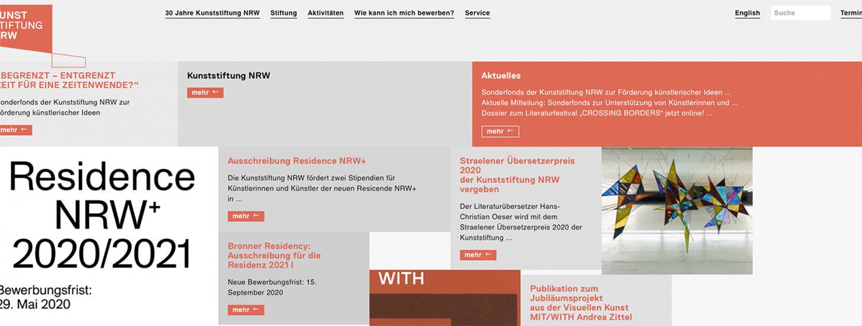 Sonderfonds der Kunsttiftung NRW
