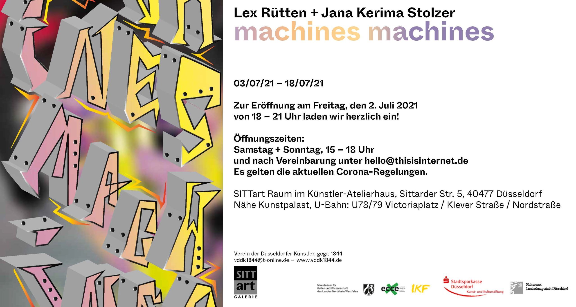 machines machines – Lex Rütten u Jana Kerima Stolzer