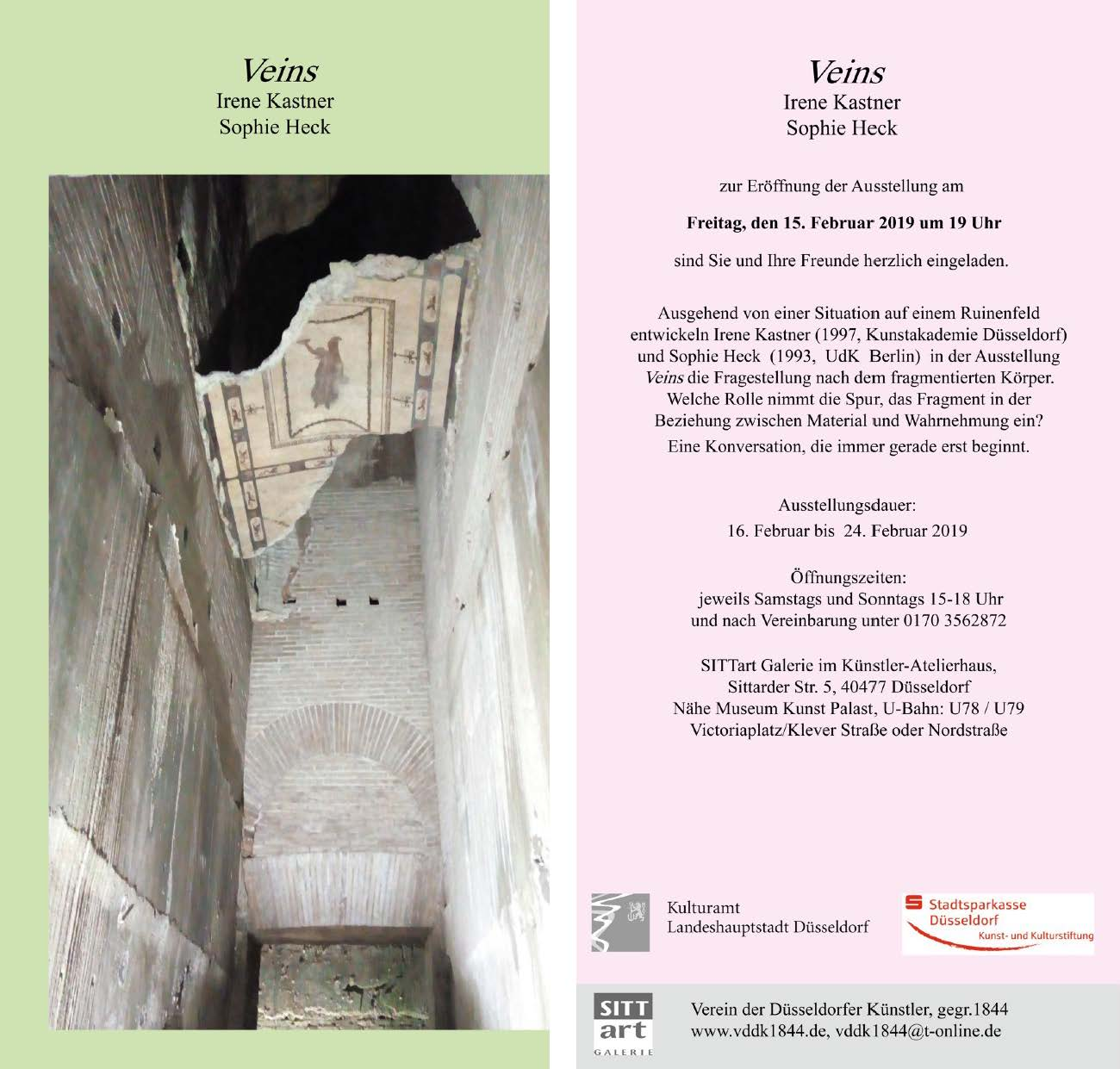 """2019-1 Ausstellung """"Veins"""" Kastner&Heck"""