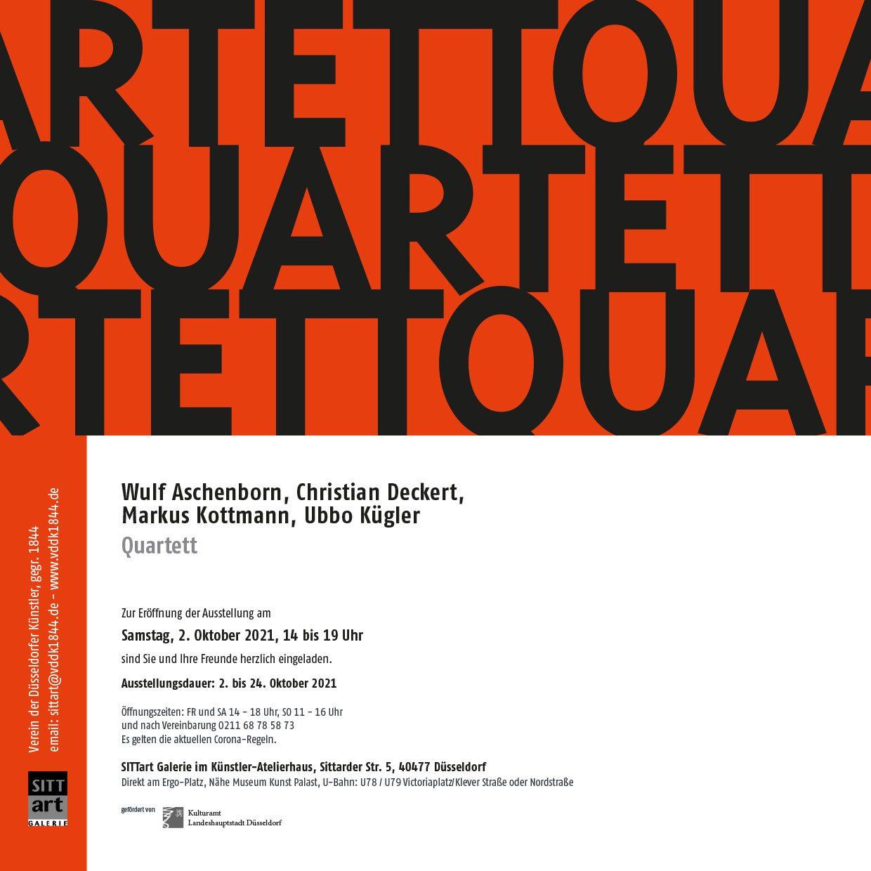 Quartett – Wulf Aschenborn, Christian Deckert, Markus Kottmann und Ubbo Kügler